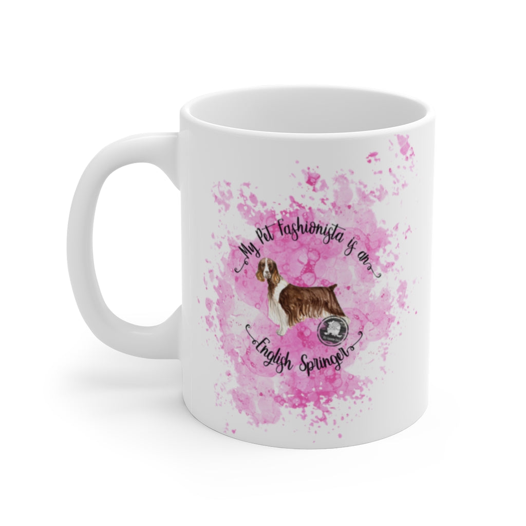 English Springer Spaniel Pet Fashionista Mug