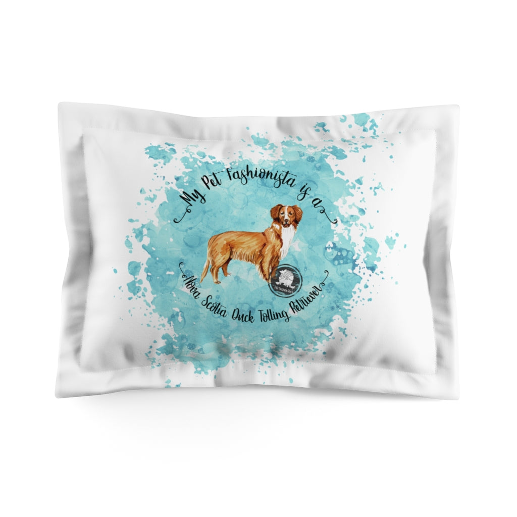 Nova Scotia Duck Tolling Retriever Pet Fashionista Pillow Sham