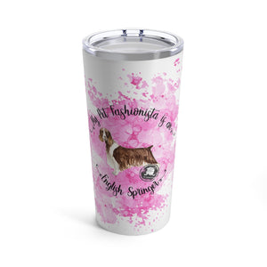 English Springer Spaniel Pet Fashionista Tumbler
