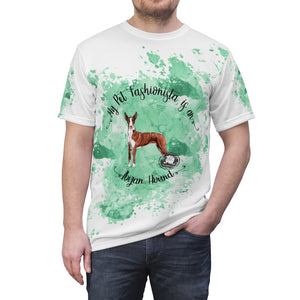 Ibizan Hound Pet Fashionista All Over Print Shirt