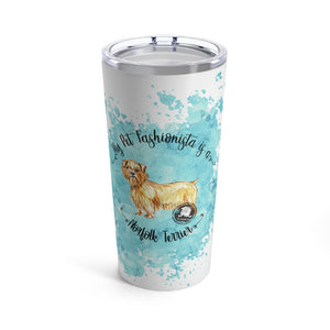 Norfolk Terrier Pet Fashionista Tumbler