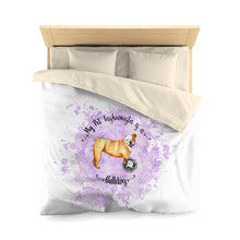 Load image into Gallery viewer, Bulldog Pet Fashionista Duvet Cover