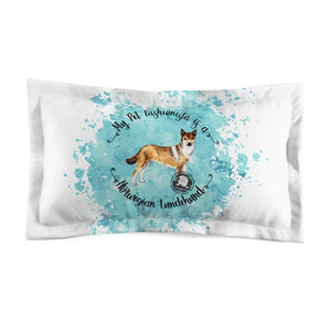 Norwegian Lundehund Pet Fashionista Pillow Sham