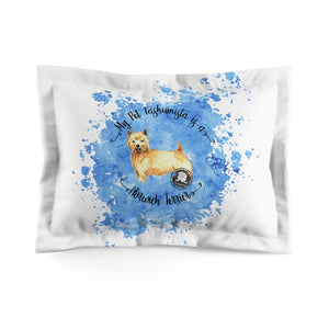 Norwich Terrier Pet Fashionista Pillow Sham