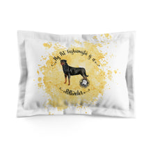 Load image into Gallery viewer, Rottweiler Pet Fashionista Pillow Sham