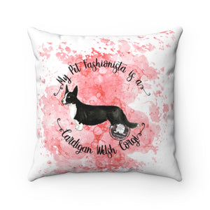 Cardigan Welsh Corgi Pet Fashionista Square Pillow