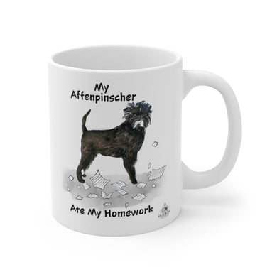 My Affenpinscher Ate My Homework Mug