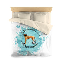 Load image into Gallery viewer, Rhodesian Ridgeback Pet Fashionista Duvet Cover