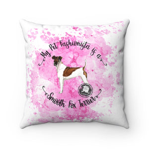 Smooth Fox Terrier Pet Fashionista Square Pillow