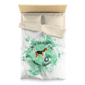 American Foxhound Pet Fashionista Duvet Cover