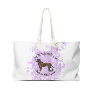 American Water Spaniel Pet Fashionista Weekender Bag