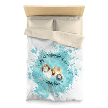 Load image into Gallery viewer, Shih Tzu Pet Fashionista Duvet Cover