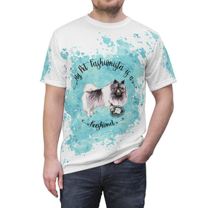Keeshond Pet Fashionista All Over Print Shirt