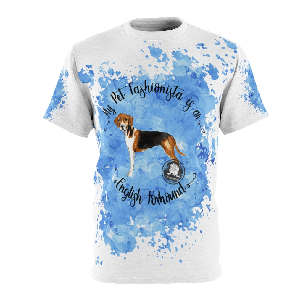 English Foxhound Pet Fashionista All Over Print Shirt