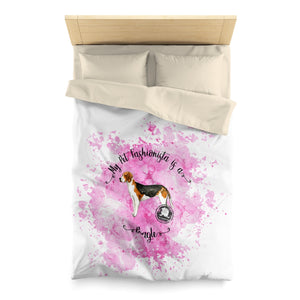 Beagle Pet Fashionista Duvet Cover