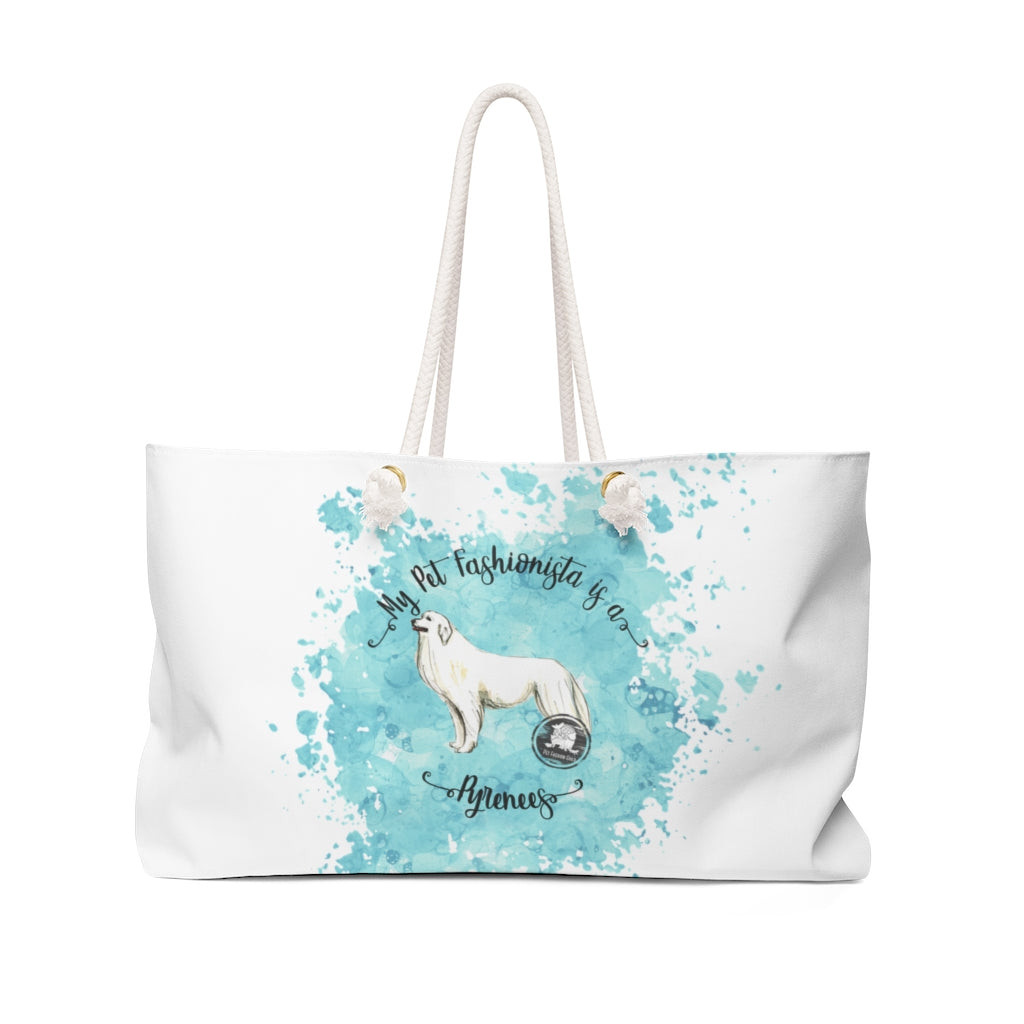 Great Pyrenees Pet Fashionista Weekender Bag