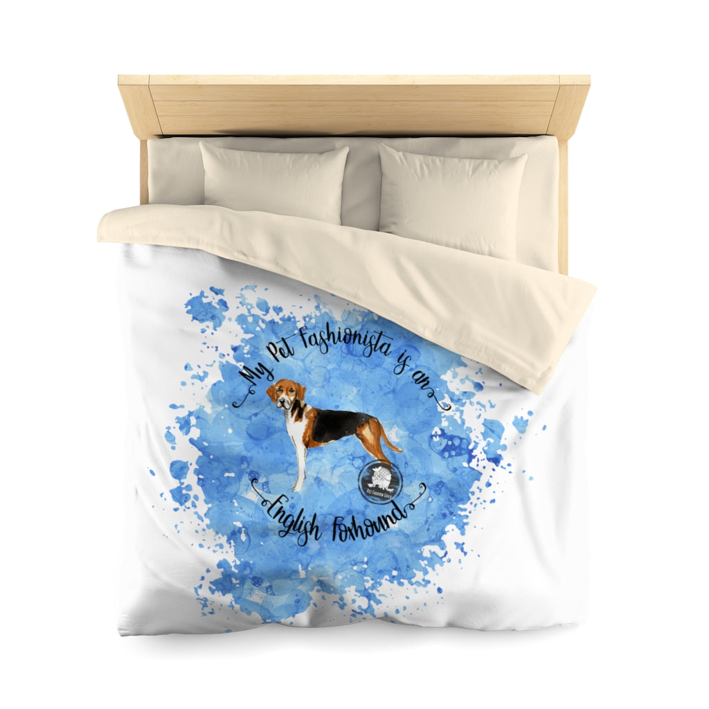 English Foxhound Pet Fashionista Duvet Cover