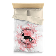 Load image into Gallery viewer, Cardigan Welsh Corgi Pet Fashionista Duvet Cover