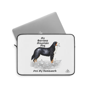 My Bernese Mountain Dog Ate My Homework Laptop Sleeve