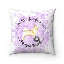 Load image into Gallery viewer, Norwegian Buhund Pet Fashionista Square Pillow