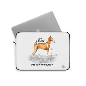 My Basenji Ate My Homework Laptop Sleeve