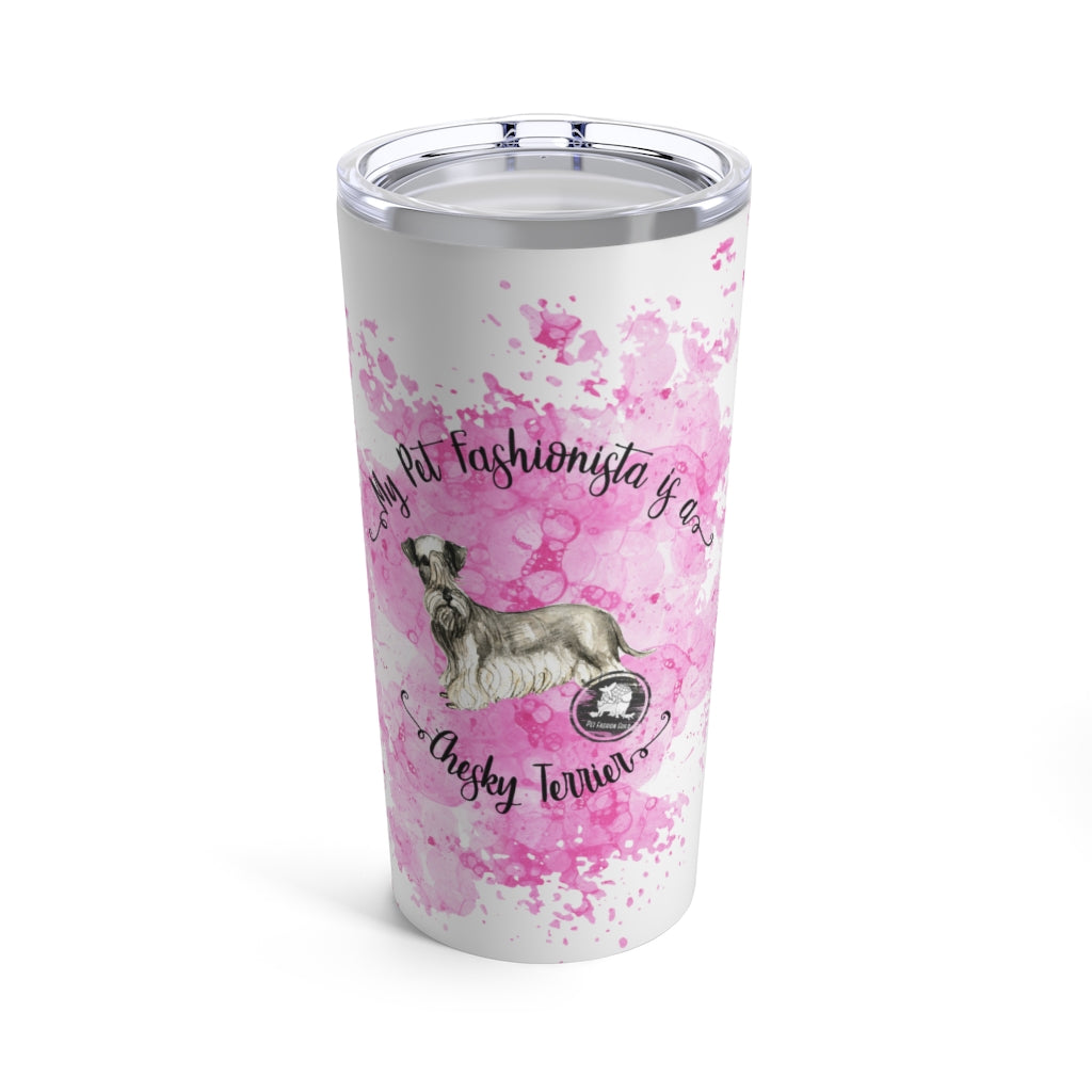 Cesky Terrier Pet Fashionista Tumbler