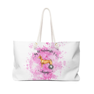 Basenji Pet Fashionista Weekender Bag