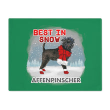 Load image into Gallery viewer, Affenpinscher Best In Snow Placemat