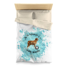 Load image into Gallery viewer, Spanish Waterdog Pet Fashionista Duvet Cover