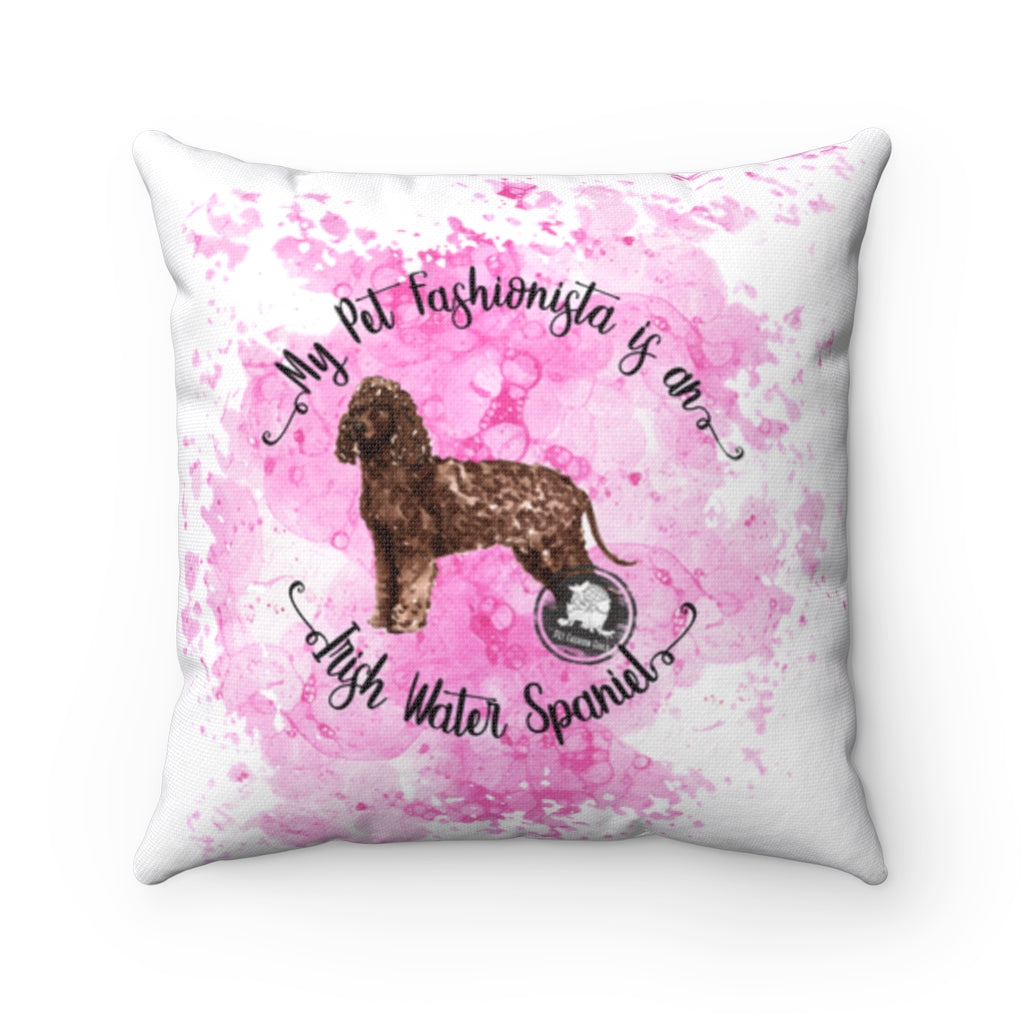 Irish Water Spaniel Pet Fashionista Square Pillow