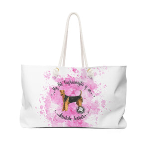 Airedale Terrier Pet Fashionista Weekender Bag