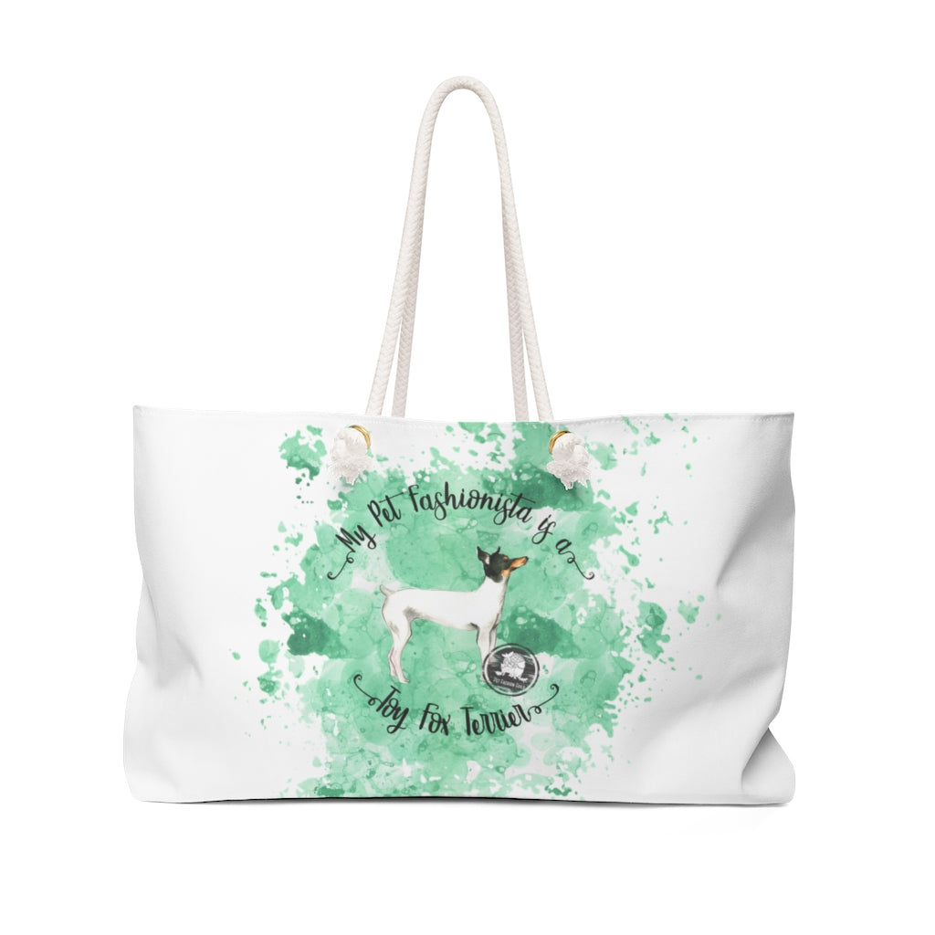Toy Fox Terrier Pet Fashionista Weekender Bag