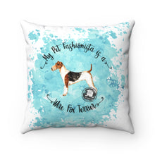 Load image into Gallery viewer, Wire Fox Terrier Pet Fashionista Square Pillow