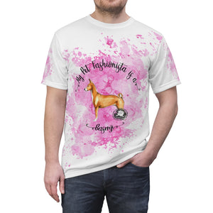 Basenji Pet Fashionista All Over Print Shirt