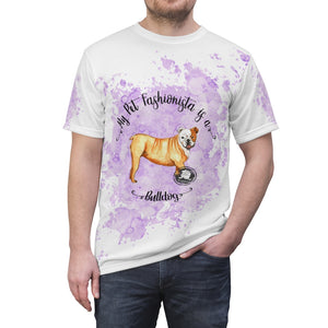 Bulldog Pet Fashionista All Over Print Shirt