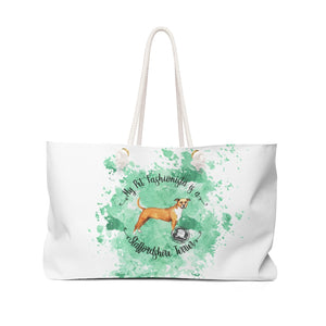 Staffordshire Terrier Pet Fashionista Weekender Bag