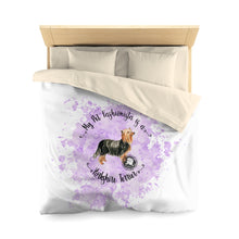 Load image into Gallery viewer, Yorkshire Terrier Pet Fashionista Duvet Cover
