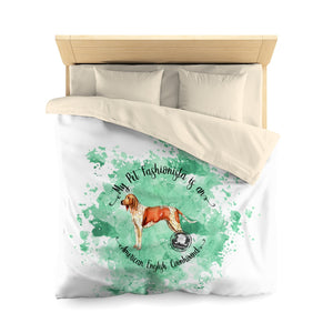 American English Coonhound Pet Fashionista Duvet Cover