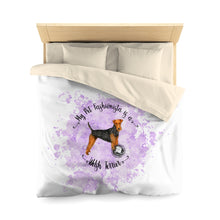 Load image into Gallery viewer, Welsh Terrier Pet Fashionista Duvet Cover