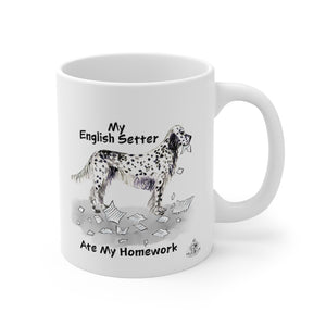 My English Setter Ate My Homework Mug
