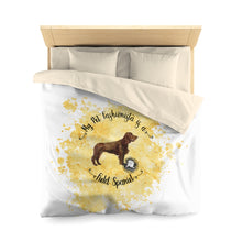 Load image into Gallery viewer, Field Spaniel Pet Fashionista Duvet Cover