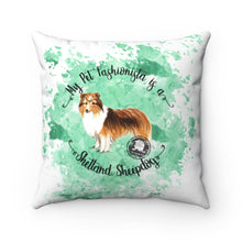 Load image into Gallery viewer, Shetland Sheepdog Pet Fashionista Square Pillow