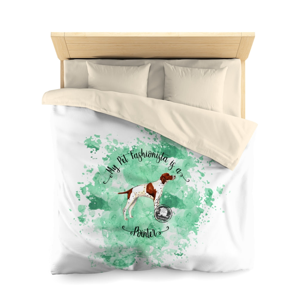 Pointer Pet Fashionista Duvet Cover