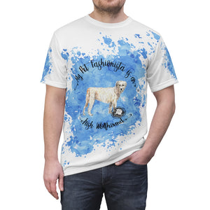 Irish Wolfhound Pet Fashionista All Over Print Shirt