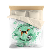 Load image into Gallery viewer, American Foxhound Pet Fashionista Duvet Cover