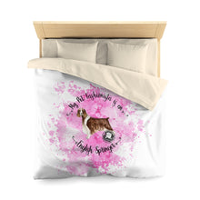 Load image into Gallery viewer, English Springer Spaniel Pet Fashionista Duvet Cover
