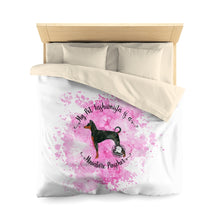 Load image into Gallery viewer, Miniature Pinscher Pet Fashionista Duvet Cover