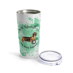 Dachshund (Long haired) Pet Fashionista Tumbler