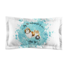 Load image into Gallery viewer, Shih Tzu Pet Fashionista Pillow Sham