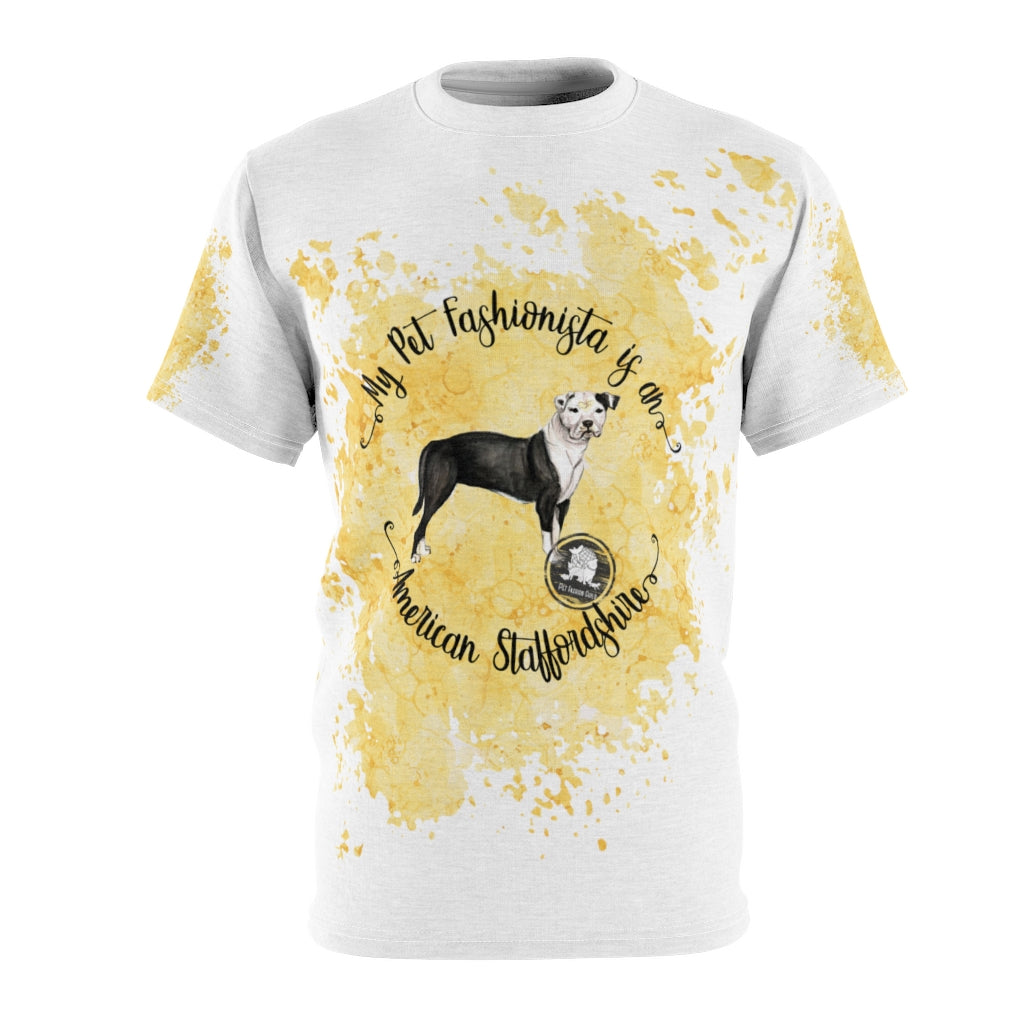 American Staffordshire Pet Fashionista All Over Print Shirt